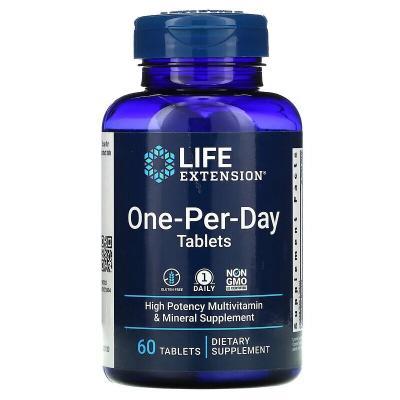 Мультивитамины Одна В День, One-Per-Day, Life Extension, 60 таблеток