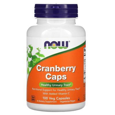Клюква, Cranberry Caps, Now Foods, 100 растительных капсул