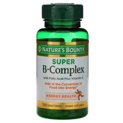 Витамин В, B-Complex, Nature's Bounty, комплекс, 150 таблеток