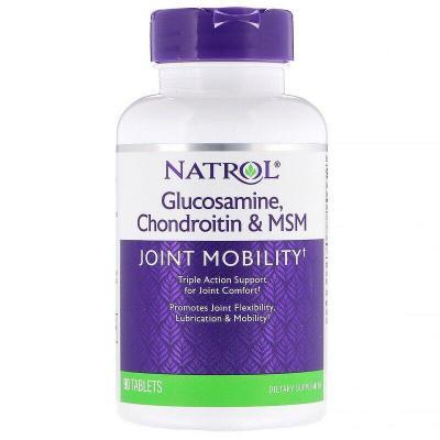 Глюкозамин, Хондроитин и MSM, Natrol, 90 таблеток