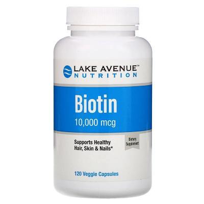 Биотин, Biotin, Lake Avenue Nutrition, 10000 мкг, 120 капсул
