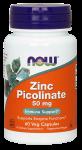 Цинка пиколинат, Zinc Picolinate, Now Foods, 50 мг 60 капсул