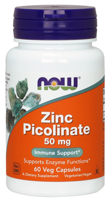 Цинка пиколинат, Zinc Picolinate, Now Foods, 50 мг 60 капсул