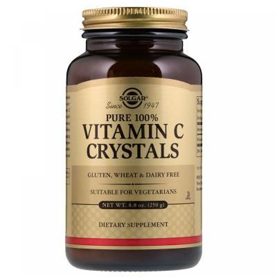 Витамин С 100% чистые кристаллы, Vitamin C, Solgar, 250 гр.
