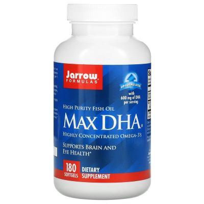 ДГК, Max DHA, Jarrow Formulas, 180 мягких таблеток