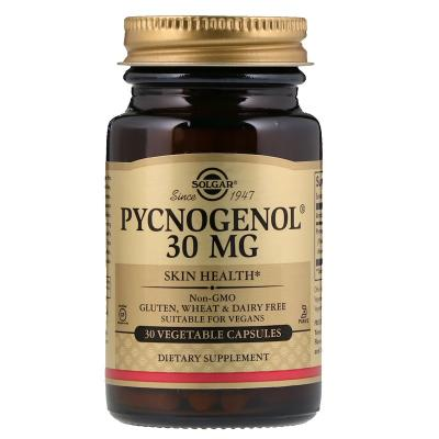 Пикногенол, Pycnogenol, Solgar, 30 мг, 30 капсул