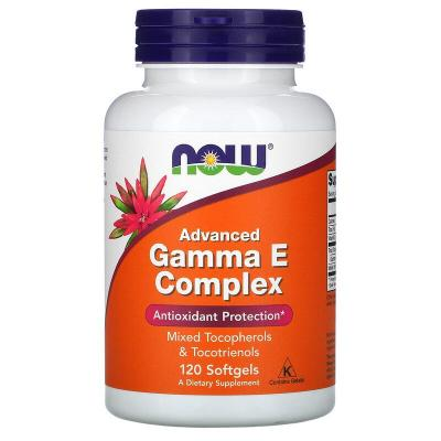 Добавка с полным спектром витамина Е, Gamma E Complex, Now Foods, 120 капсул
