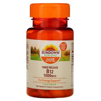 Витамин B12, Vitamin B12, Sundown Naturals, 1000 мкг, 120 таблеток