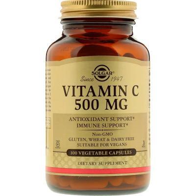Витамин С, Vitamin C, Solgar, 500 мг, 100 капсул