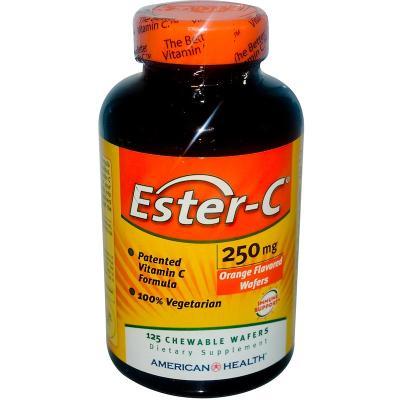 Эстер С, Ester-C, American Health, апельсин, 250 мг, 125 конфет