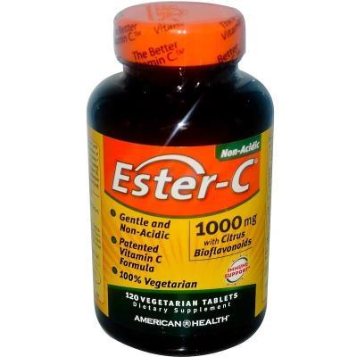 Эстер-С, Ester-C, American Health, 1000 мг, 120 вегетарианских таблеток