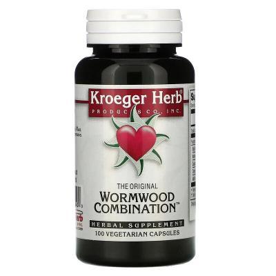 Экстракт полыни, Wormwood Combination, Kroeger Herb Co, 100 капсул
