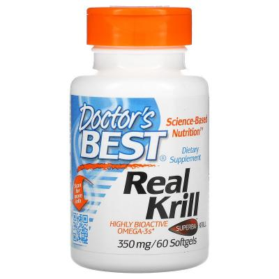 Масло криля, Real Krill, Doctor's Best, 350 мг, 60 капсул
