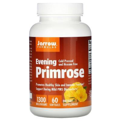Примула вечерняя, Evening Primrose, Jarrow Formulas, 1300 мг, 60 капсул