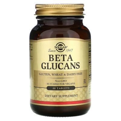 Бета глюкан, Beta Glucans, Solgar, 60 таблеток