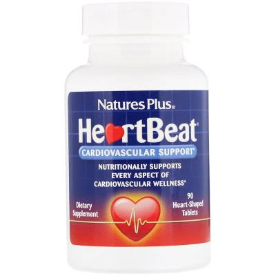 Поддержка сердечно-сосудистой системы, HeartBeat, Nature's Plus, 90 таблеток
