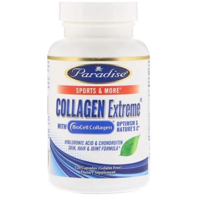 Коллаген Экстрим с BioCell-Коллагеном, Paradise Herbs, 120 капсул
