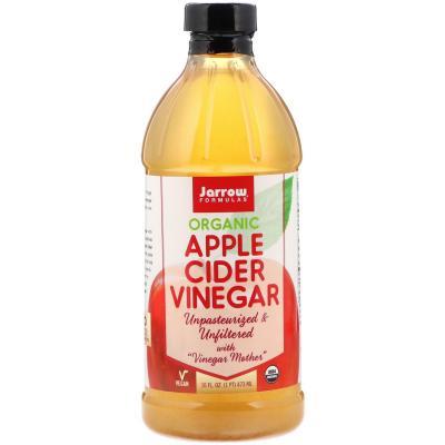 Органический Яблочный Уксус, Apple Cider Vinegar, Jarrow Formulas, 16 жидких унций (473 мл)