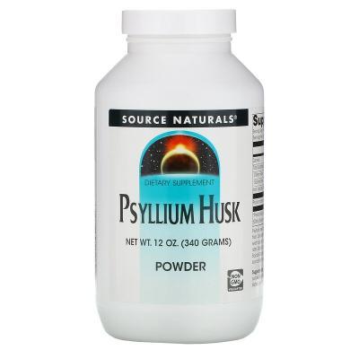 Подорожник, порошок, Psyllium Husk, Source Naturals, 340 гр