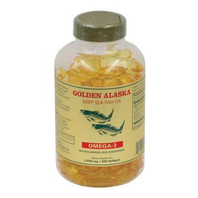 Рыбий Жир, Омега 3, Golden Alaska Deep Sea Fish Oil, 1000 Мкг, 200 капсул