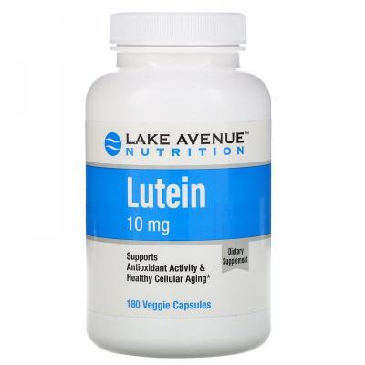 Лютеин, Lutein, Lake Avenue Nutrition, 10 мг, 180 капсул