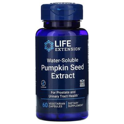 Водорастворимый экстракт семян тыквы, Water Soluble Pumpkin Seed Extract, Life Extension, 60 вегетарианских капсул