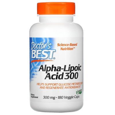 Альфа-Липоевая Кислота, Alpha-Lipoic Acid, Doctor's Best, 300 мг, 180 капсул