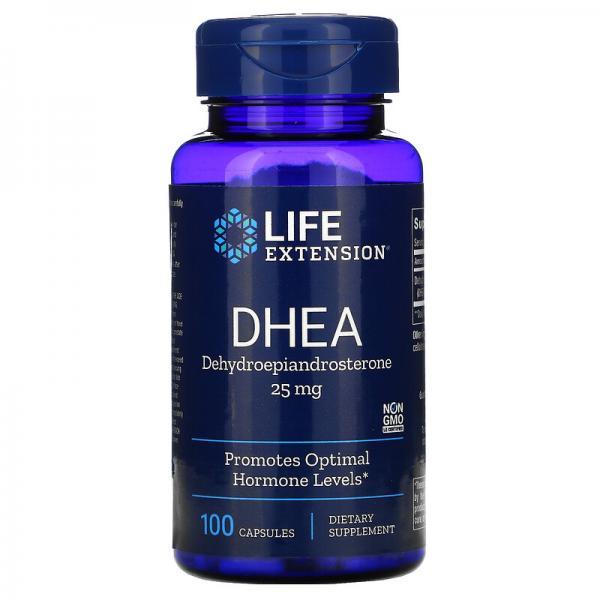 ДГЭА (дегидроэпиандростерон), DHEA, Life Extension, 25 мг, 100 капсул