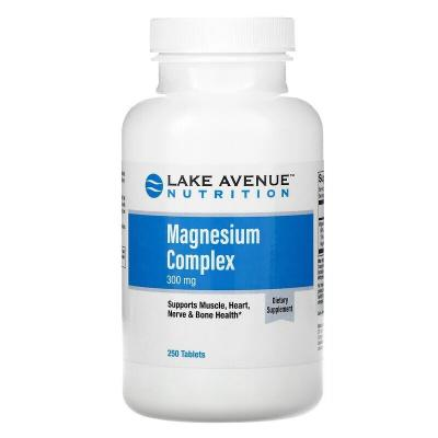 Комплекс магния, Magnesium Complex, Lake Avenue Nutrition, 300 мг, 250 таблеток