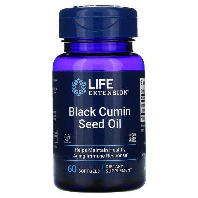 Масло семян черного тмина, Black Cumin Seed Oil, Life Extension, 500 мг, 60 жевательных капсул