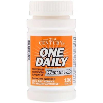 Витамины для женщин 50+ (Multivitamin Multimineral), 21st Century, 100 таблеток