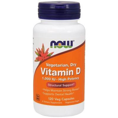 Витамин D, высокоактивный, Vitamiv D, Now Foods, 1000 МЕ, 120 растительных капсул