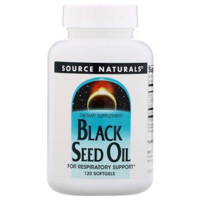Масло черного тмина, Black Seed Oil, Source Naturals, 120 мягких таблеток