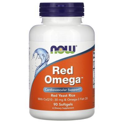 Красная омега, Red Omega, Now Foods, 90 капсул