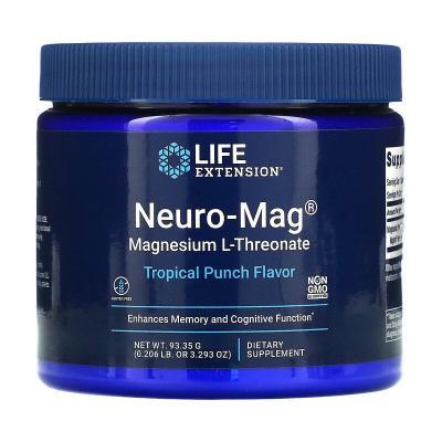 Магний L-треонат, вкус тропического пунша, Neuro-Mag, Life Extension, 93,35 г