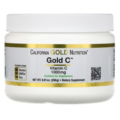 Витамин C (порошок), Gold C, California Gold Nutrition, 250 г (8,81 унции)