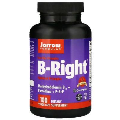 Витамины группы В, B-Right, Jarrow Formulas, 100 капсул