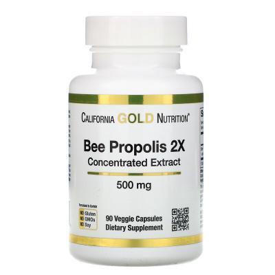 Пчелиный прополис 2Х, California Gold Nutrition, 500 мг, 90 капсул