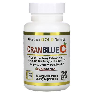 Клюква и голубика с витамином C, CranBlueC, California Gold Nutrition, 60 растительных капсул
