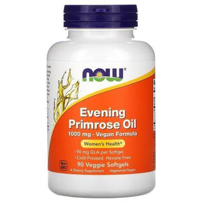 Масло вечерней примулы, Evening Primrose oil, Now Foods, 1000 мг, 90 капсул