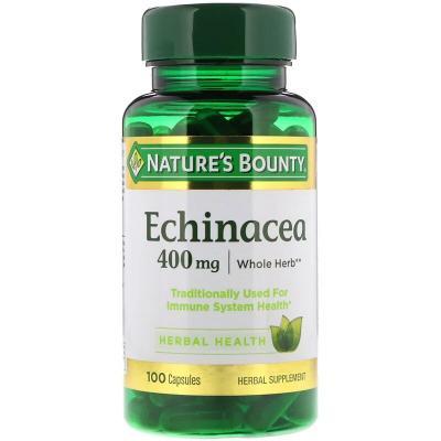 Эхинацея, Echinacea, Nature's Bounty, 400 мг, 100 капсул