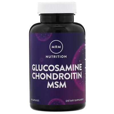 Витамины с глюкозамином и хондроитином, Glucosamine Chondroitin MSM, MRM, Nutrition, 90 таблеток