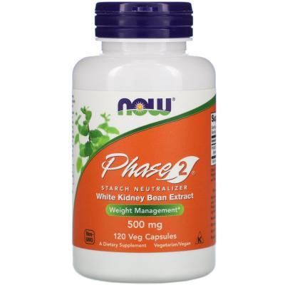 Белая Фасоль Фаза 2, Phase 2, Now Foods, 500 мг, 120 капсул