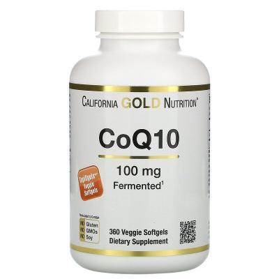 Коэнзим Q10, CoQ10, California Gold Nutrition, 100 мг, 360 вегетарианских капсул