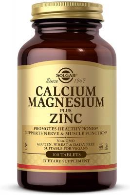Кальций магний цинк (Calcium Magnesium Zinc), Solgar, 100 таблеток
