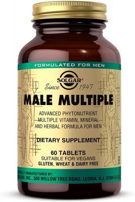 Витамины для мужчин, Solgar, Male Multiple, 60 таблеток