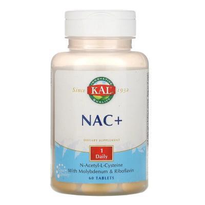 N-ацетил-L-цистеин, NAC+, KAL, 60 таблеток