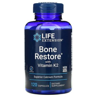 Восстановление костей с К2, Bone Restore, Life Extension, 120 капсул