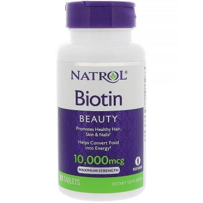Биотин максимум, Biotin, Natrol, 10000 мкг, 100 таблеток
