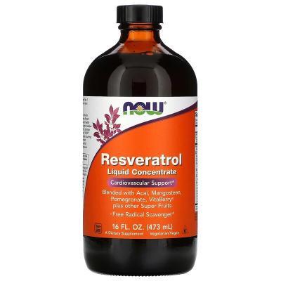 Ресвератрол, жидкий концентрат, Resveratrol, Now Foods, 473 мл (16 жидк. унций)